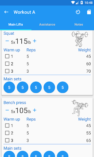 5×5 Workout Logger 4.4 preview 2