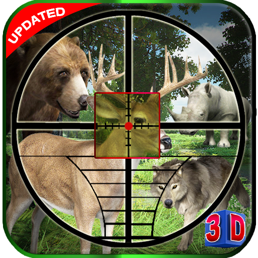 Animal Hunting Game Wolf in Safari Jungle logo