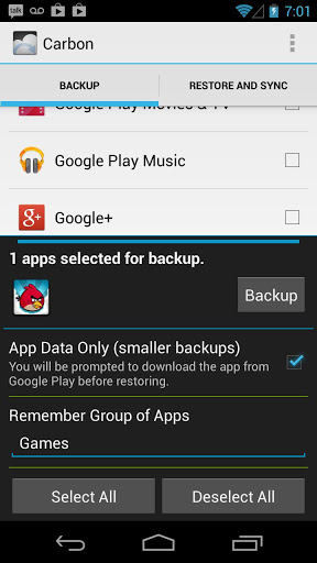 Helium – App Sync and Backup preview 2