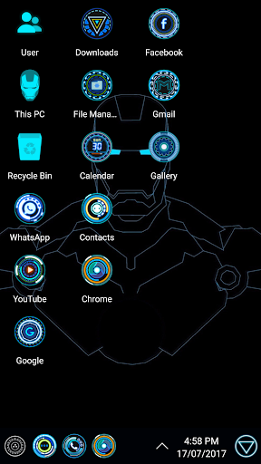 Jarvis Arc Theme For Computer Launcher 1.3 preview 2