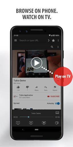 Tubio – Cast Web Videos to TV Chromecast Airplay 2.40 preview 2