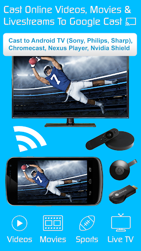 Video amp TV Cast Cast to Google Cast Android TVs 2.18 preview 1