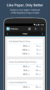 FitNotes – Gym Workout Log preview 1