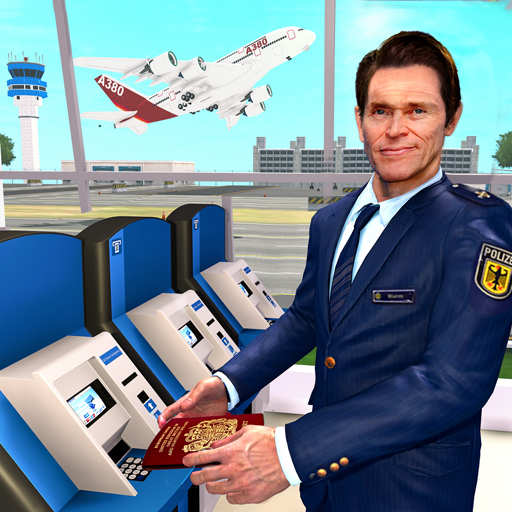 Virtual City Police Airport Manager Family Games logo