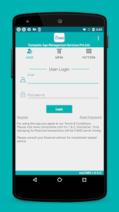myCAMS Mutual Fund App preview 1