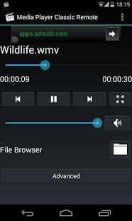 Media Player Classic Remote 1.2 preview 1