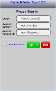 Perfect Teller – ptApp preview 1