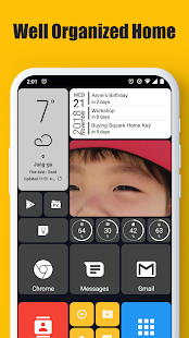 Square Home – Launcher Windows style preview 1