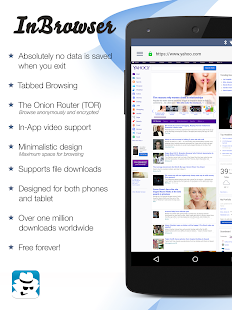 InBrowser – Incognito Browsing Varies with device preview 1