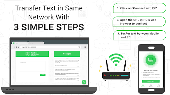 TexFer Free Text Transfer Between Mobile Desktop 1.2.1 preview 1
