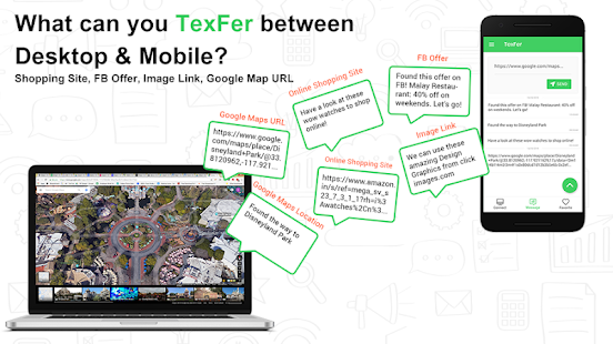 TexFer Free Text Transfer Between Mobile Desktop 1.2.1 preview 2